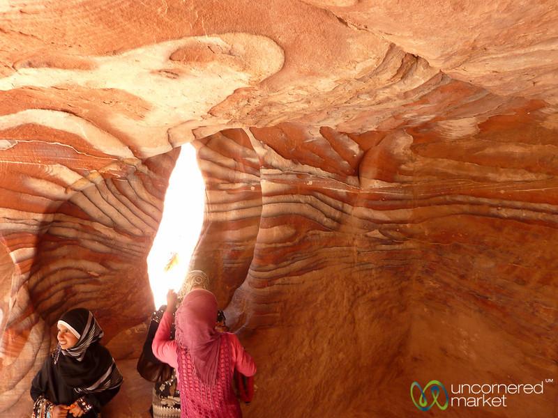 Natural Sandstone Colors of Petra - Jordan