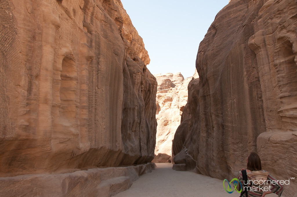 Walking through the Siq - Petra, Jordan