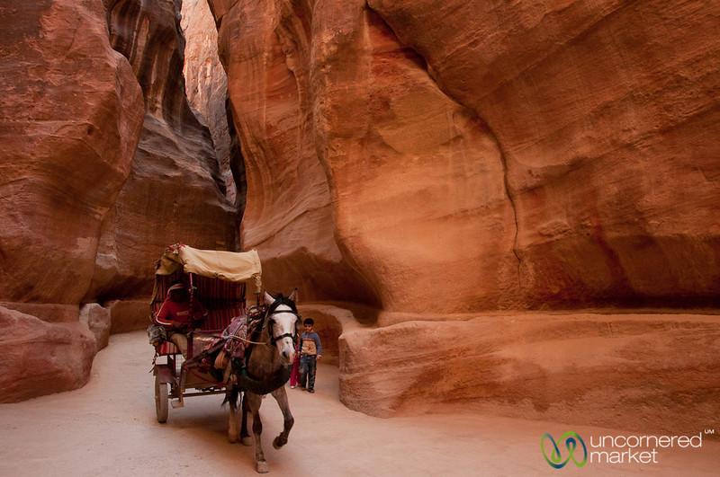 Racing Through the Siq - Petra, Jordan