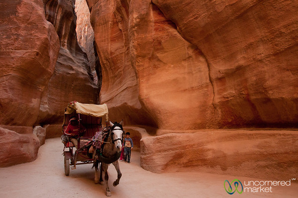 Racing Through the Siq - Petra, Jordan