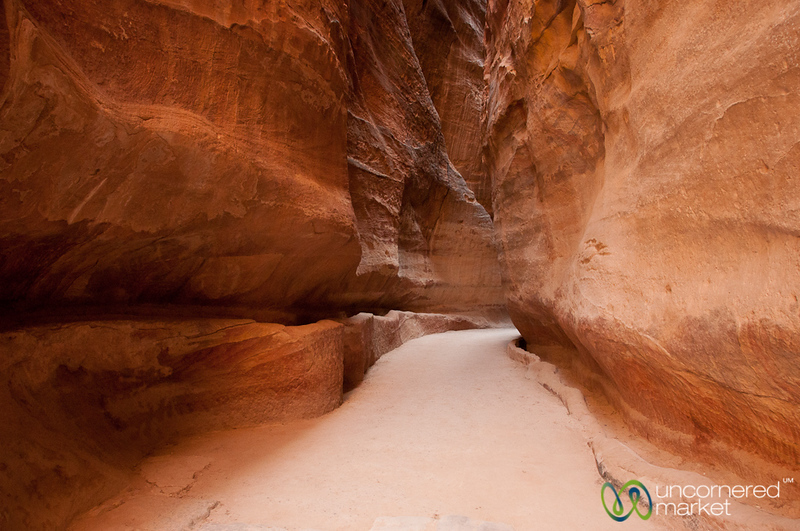 The Colorful Walk through the Siq at Petra - Jordan
