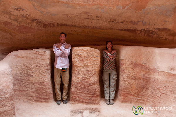 Pretending to be Mummies - Petra, Jordan