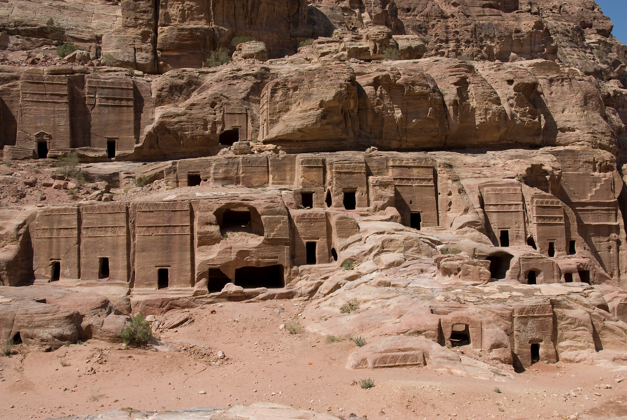 Cave Dwellings in Petra, Jordan
