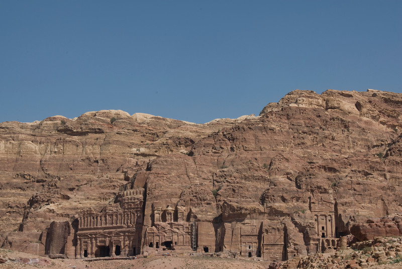 Stone dwellings in Petra, Jordan