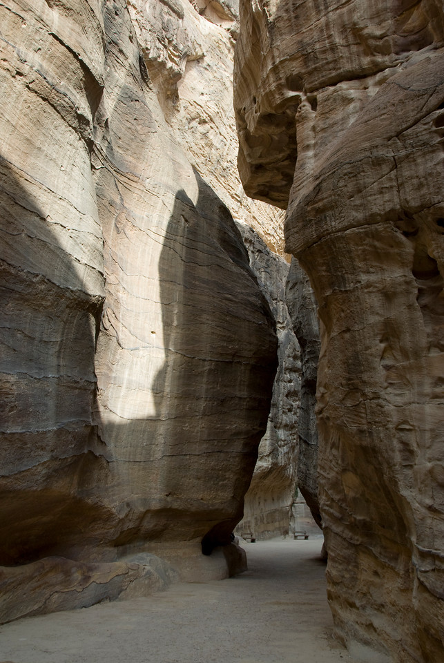Narrow passage or Siq in Petra, Jordan