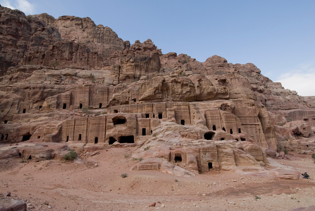 Ancient cave dwelling in Petra, Jordan