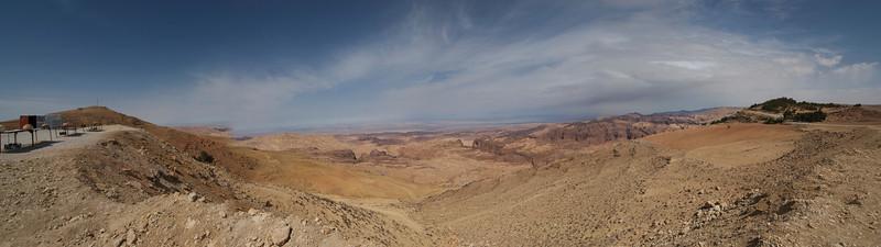 Panorama of Petra in Jordan