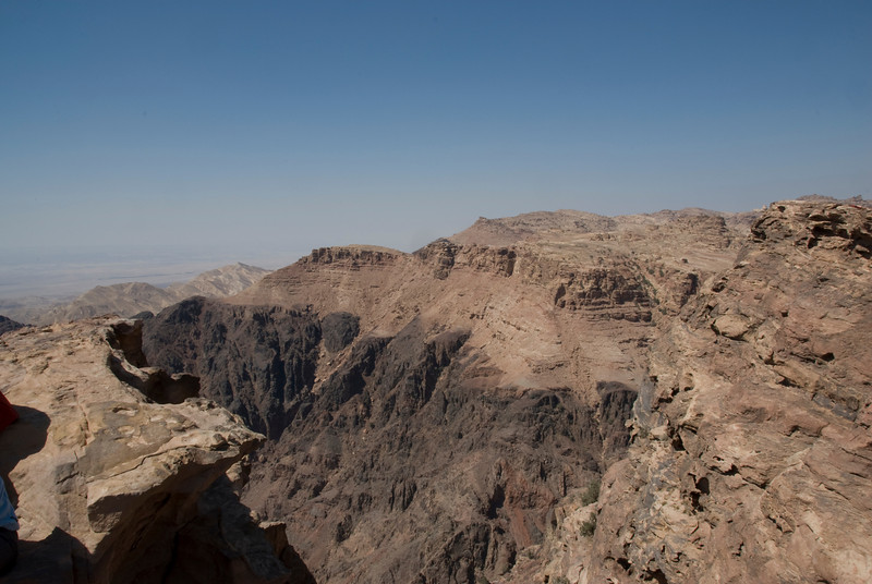Overlooking view of Petra, Jordan