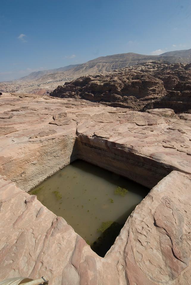 Water hole in Petra, Jordan