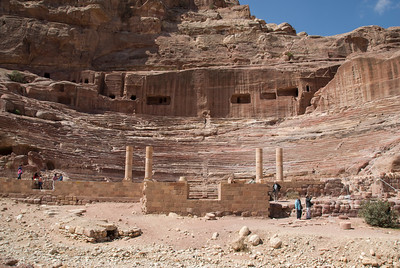 The amphitheater in Petra, Jordan