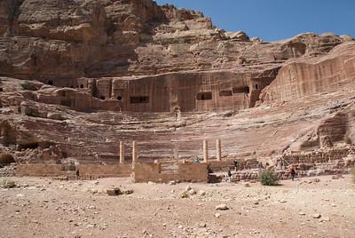 The amphitheater in Petra, Jordan