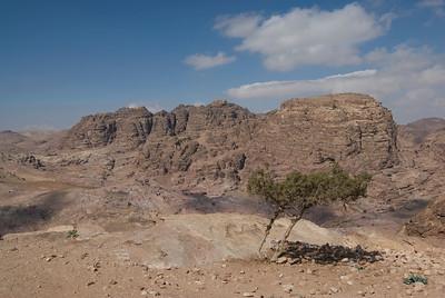 Rock formation in Petra, Jordan
