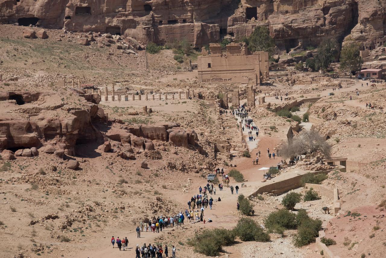 Overlooking view of Petra, Jordan