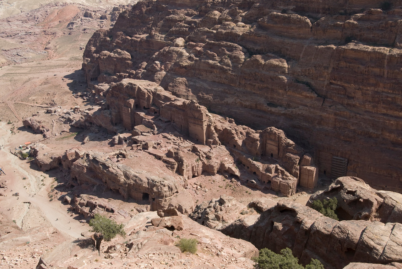 Ancient Nabatean dwelling carved into the rock of Petra, Jordan