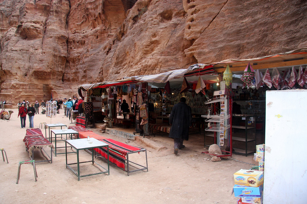 The Treasury, Petra, What a view and a great time to sit, relax, stare and take it all in...