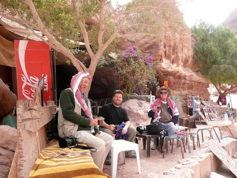 Tea time at Petra People of Jordan