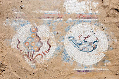 Mosaic floor in Um er-Rasas in Amman, Jordan