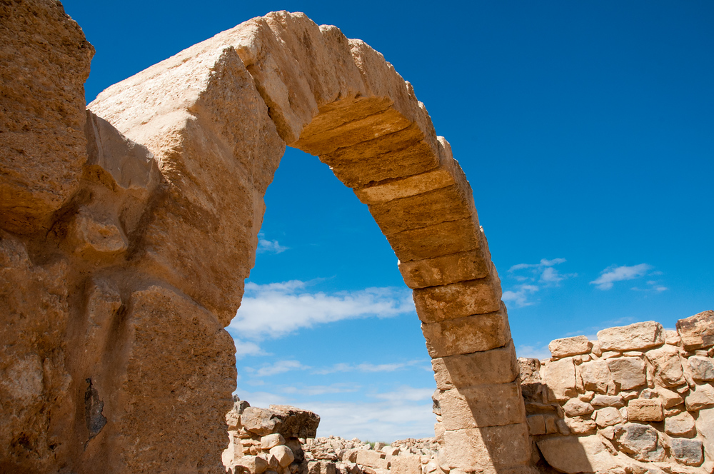Stone Archway in the Ruins of Um er-Rasas, Jordan