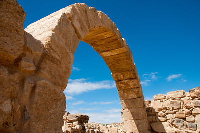 Ancient arches in Um er-Rasas - Amman, Jordan