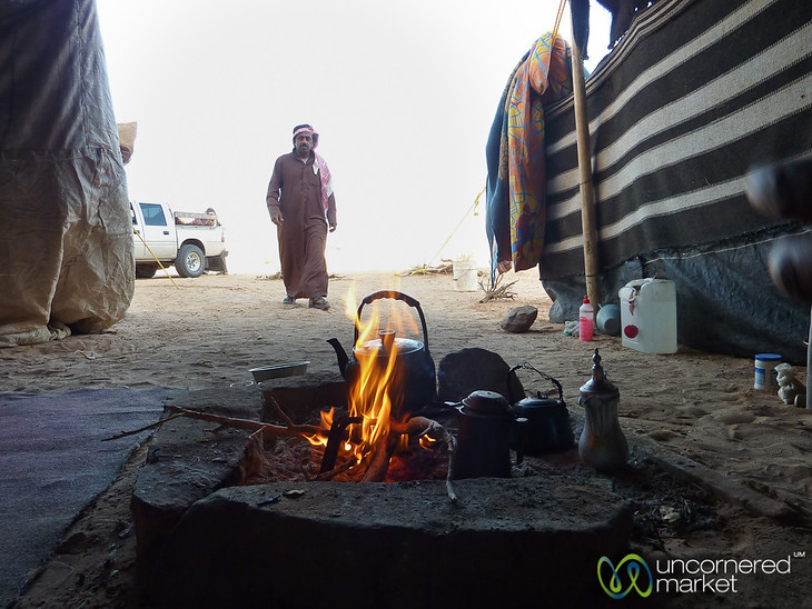 Our Bedouin Host Returns to his Tent - Wadi Rum, Jordan