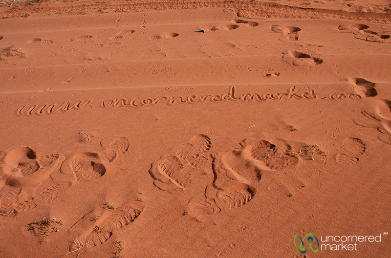 Branding in the Sand at Wadi Rum, Jordan