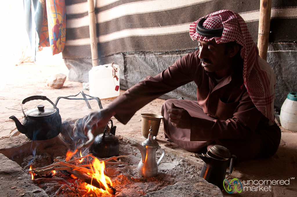 Tending to the Fire - Wadi Rum, Jordan
