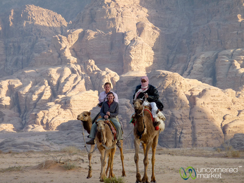 Camel Ride at Wadi Rum in Jordan