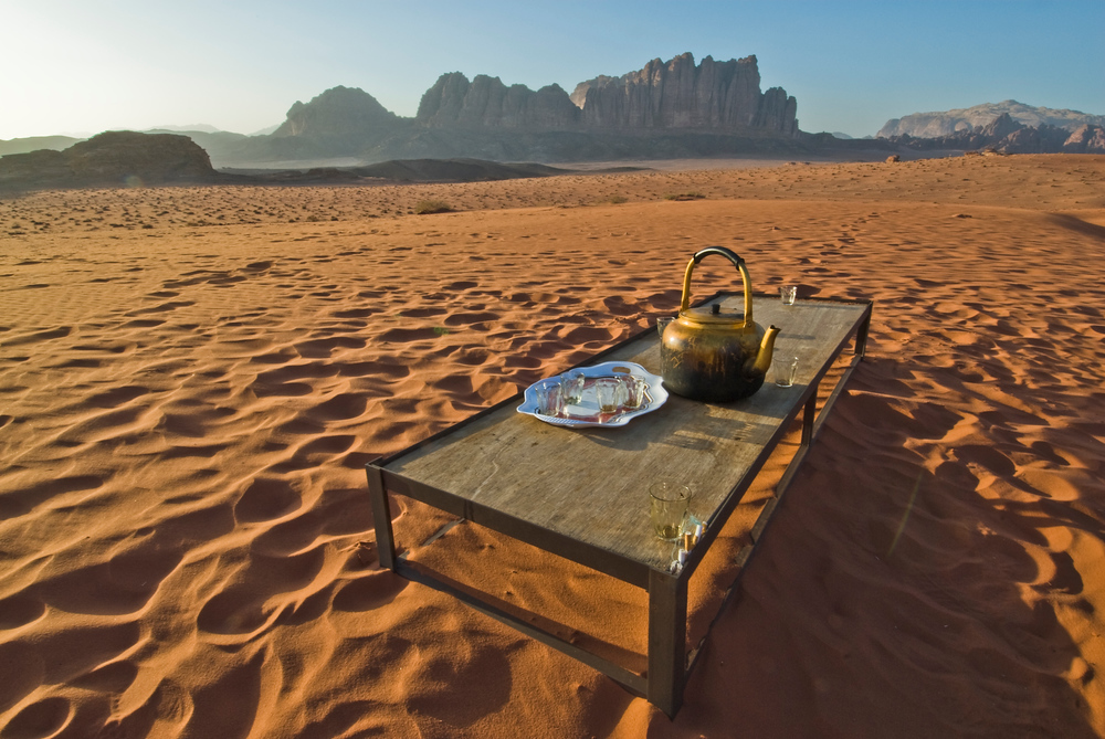 Tea in the desert, Wadi Rum, Jordan