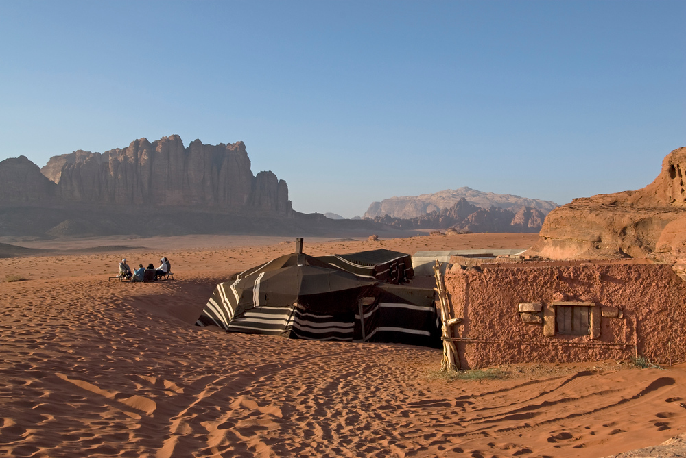 A bedouin camp in Wadi Rum, Jordan