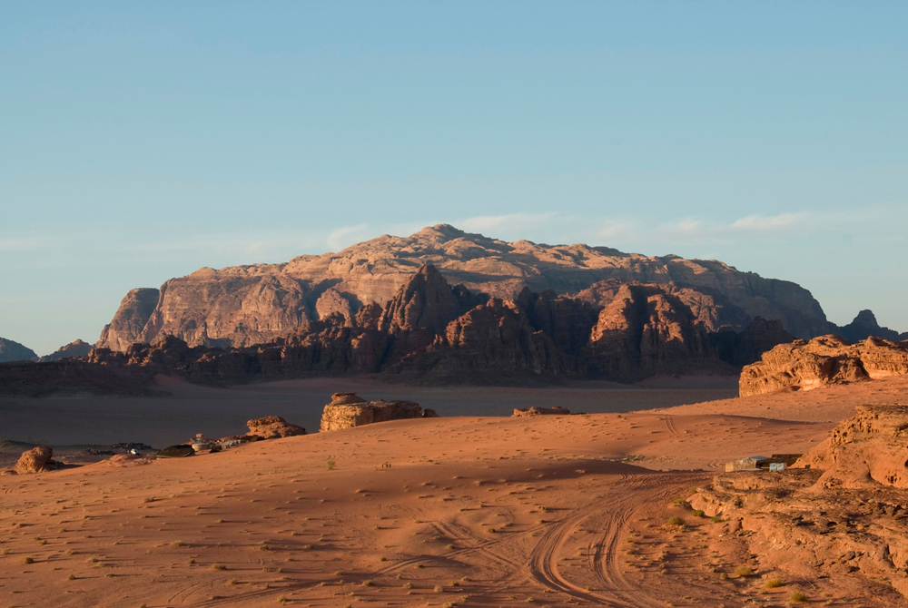 The mountains and desert of Wadi Rum, Jordan