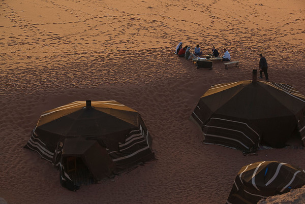 Travel photo: Bedouin Camp at Sunset, Wadi Rum, Jordan