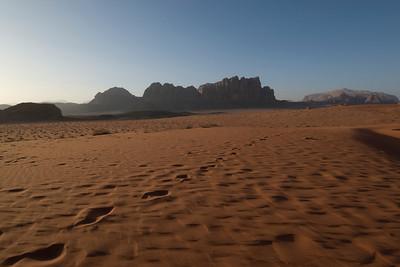 Desert in Wadi Rum, Jordan