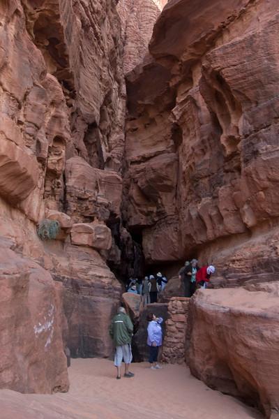 People in Gorge - Wadi Rum, Jordan