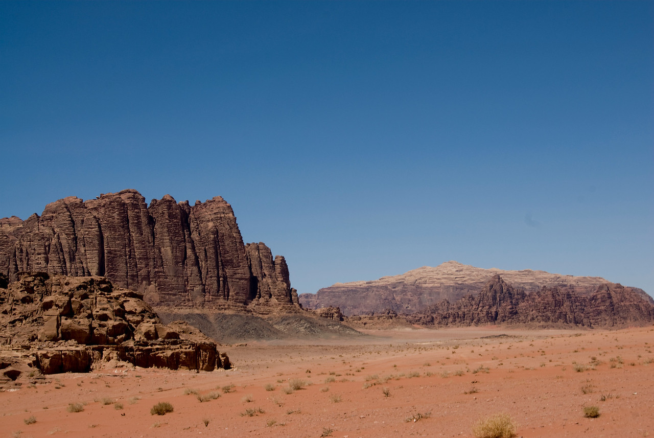 Seven Pillars of Wisdom in Wadi Rum, Jordan