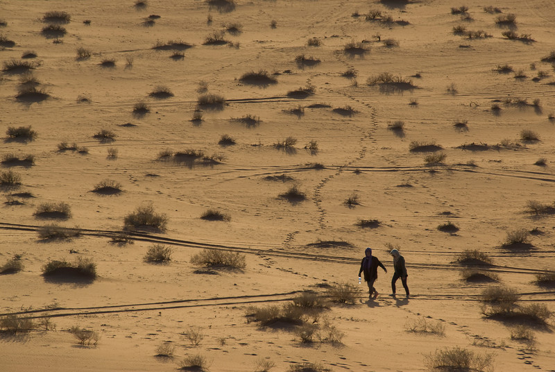 Scaling the desert in Wadi Rum, Jordan
