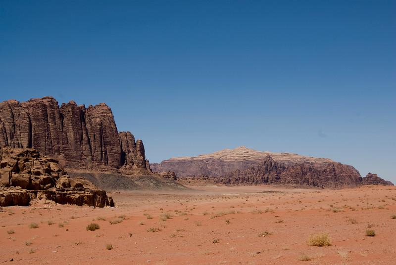 Seven Pillars of Wisdom in Wadi Rum, Jordan