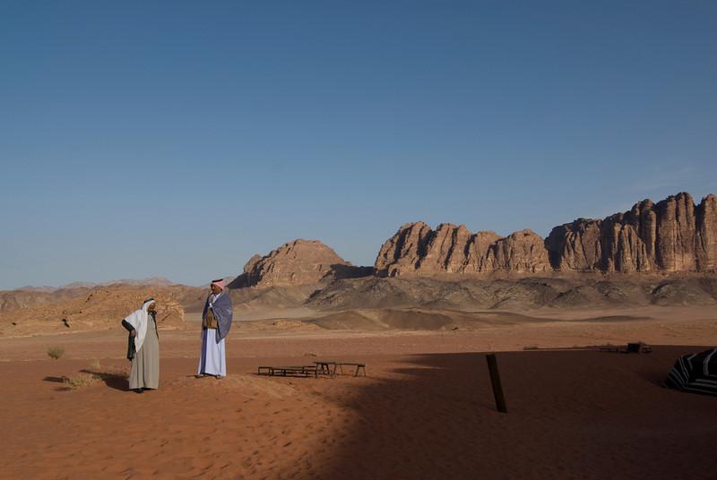 View of the desert in Wadi Rum, Jordan