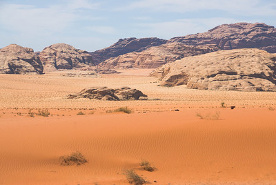 Red sand in Wadi Rum, Jordan