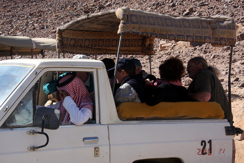 Wadi Rum (Arabic: وادي رم‎) Jordan, Jeeps for taking you about..