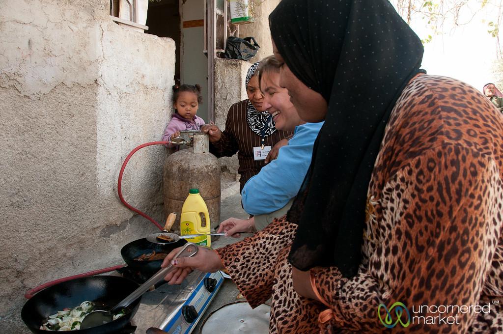Cooking Lunch Together - Ghor al Mazra'a, Jordan