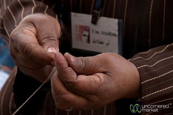 Making Olive Seed Jewelry - Ghor al Mazra'a, Jordan