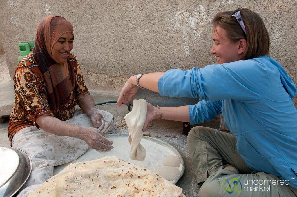 Audrey Attempts Making Shrak (flat bread)...Not Going Too Well - Zikra Initiative, Jordan