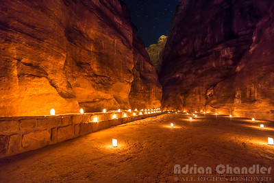 The Siq at Night