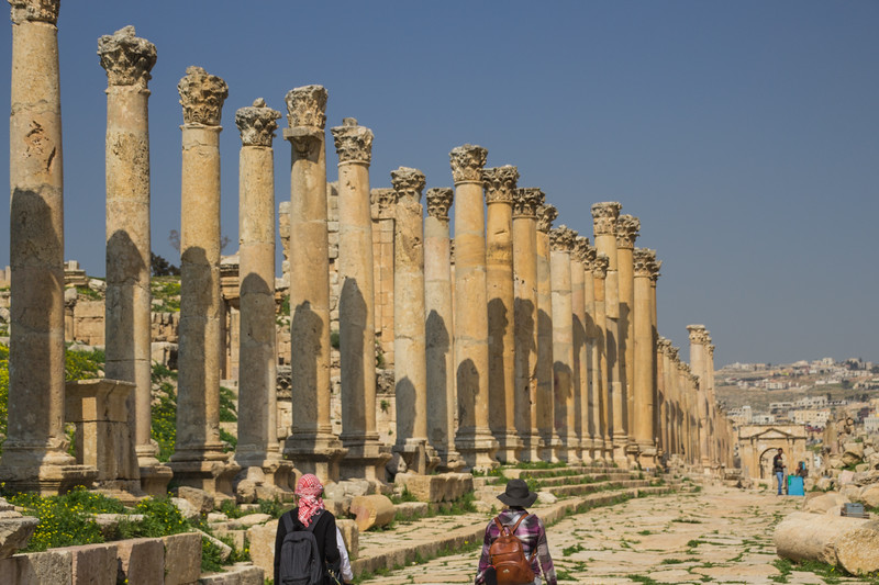 The Cardo at the Jerash Site Using the Jordan Pass to Enter (©simon@myeclecticimages.com)