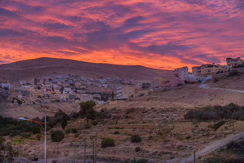 Petra Hills as Dawn