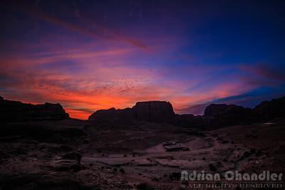 Sunset over Petra