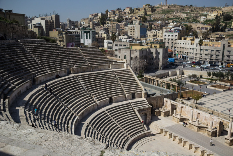 The Roman Amphitheater in Central Amman (©simon@myeclecticimages.com)