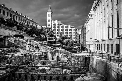 Roman ruins in Beirut.