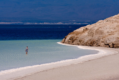 At the lowest point on the African continent are the beautiful waters of Lake Assal.