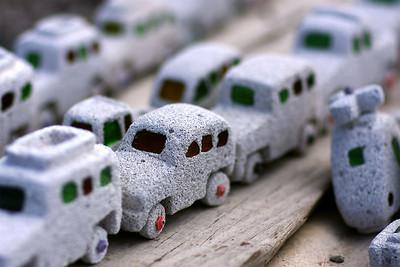 Sandstone traffic jam. For sale at Lake Assal.